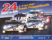 "LE MANS 24 Hour 1997 Qualifying original poster 21x16""(540x400mm)"